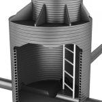 Стальные канализационные лестницы-стремянки марки С1-03 для спуска в колодцы по ТПР 902-09-22.84